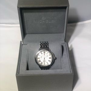 Michele Serein 36mm SS Diamond Chronograph Watch